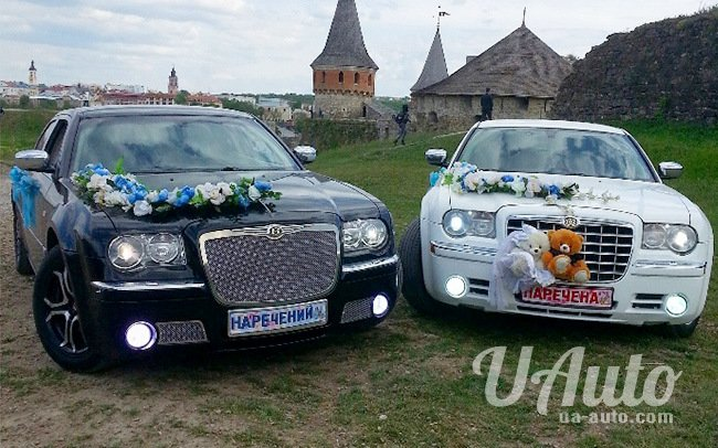 аренда авто Chrysler 300C на свадьбу